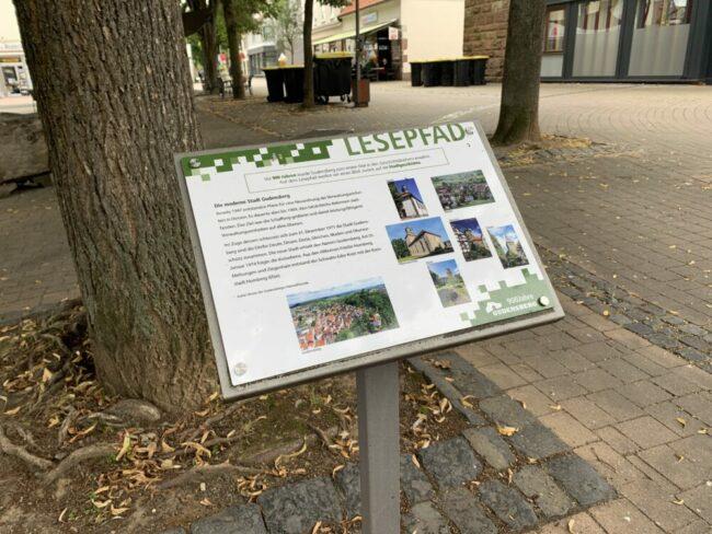 Der Lesepfad Gudensberg bietet viele Informationen rund um die Stadtgeschichte.   (c) Stadt Gudensberg