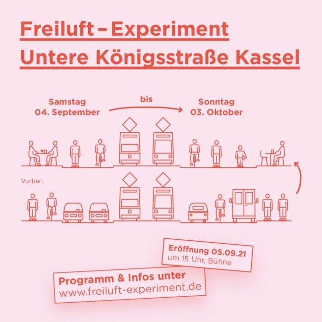 Weniger Verkehr, mehr Freizeit: Das ist eines der Hauptziele des neuen Kasseler Freiluft-Experiments.   (c) Stadt Kassel