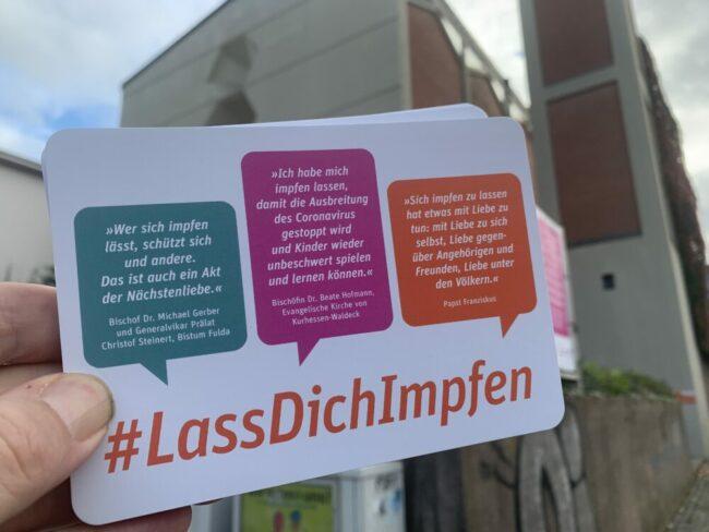 Pfarrei Sankt Elisabeth Kassel wirbt fürs Impfen   (c) Kassel Leitschuh