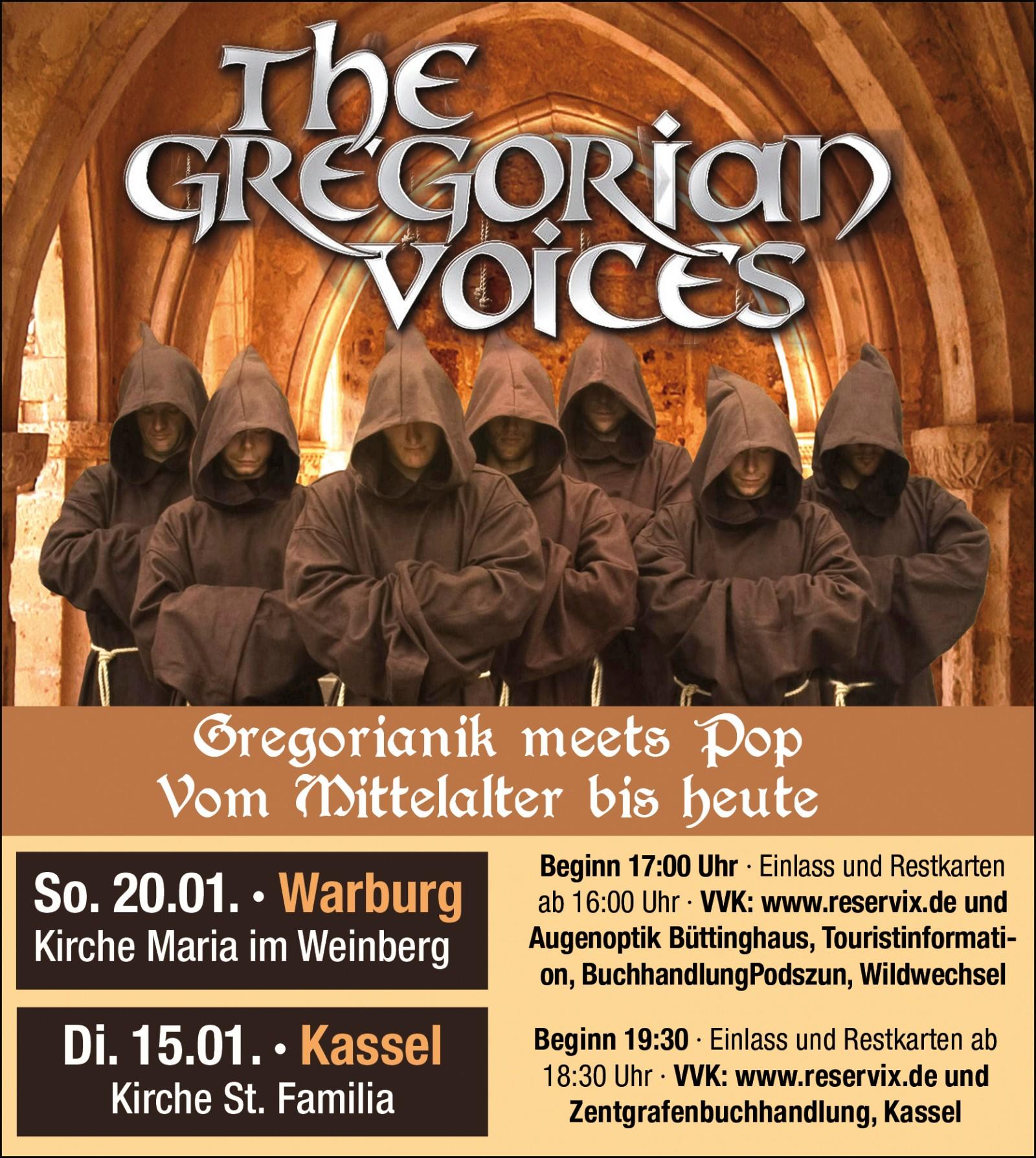 Gregorian Voices - Kirche Maria im Weinberg - Warburg