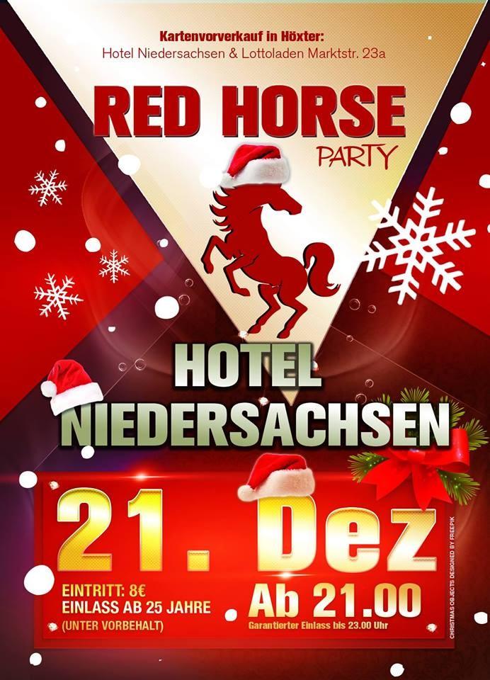 Die große Red Horse - Jahresabschlussparty - Hotel Niedersachsen - Höxter