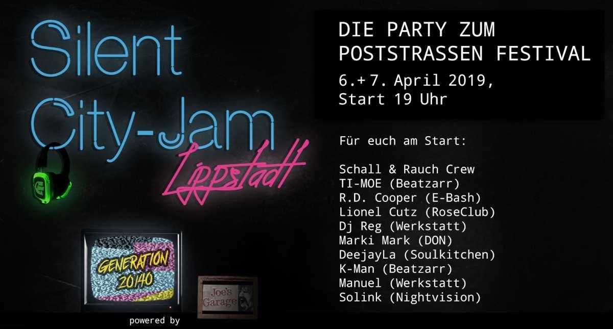 Silent City Jam Lippstadt - Ti- Moe, Solink, R.d.Cooper, DeejayLa, LionelCutz, Schall&Rauch, DJReg uvw - Joe`s Garage  - Lippstadt