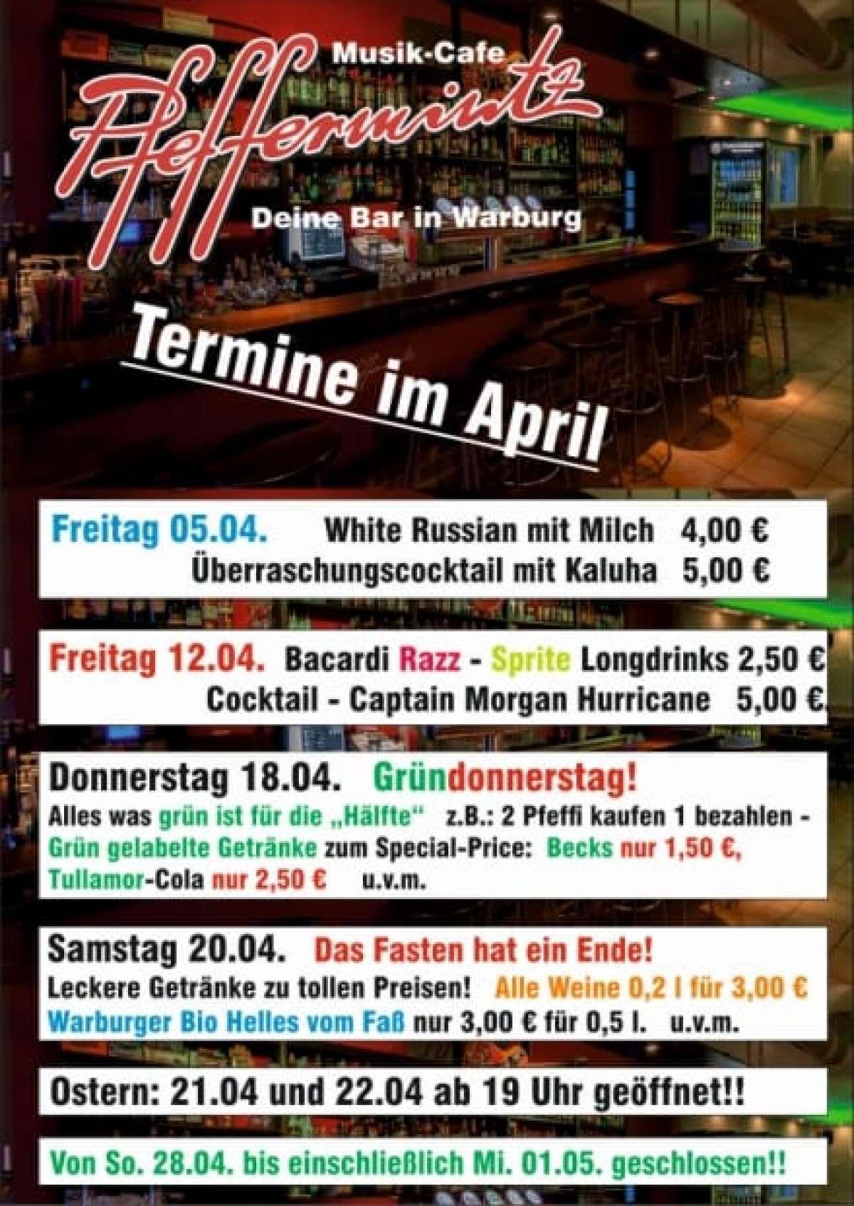 Ostern - Musik-Cafe Pfeffermintz - Warburg