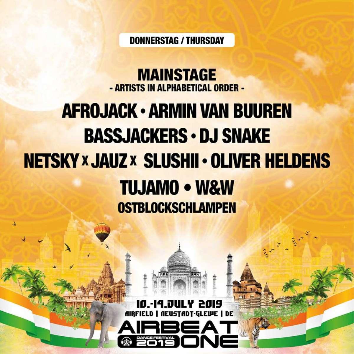 Airbeat One Festival - Armin van Buuren, Martin Garrix, Dimitri Vegas & Like Mike, Steve Aoki, The Chainsmokers, Afrojack - Festivalgelände  - Neustadt-Glewe