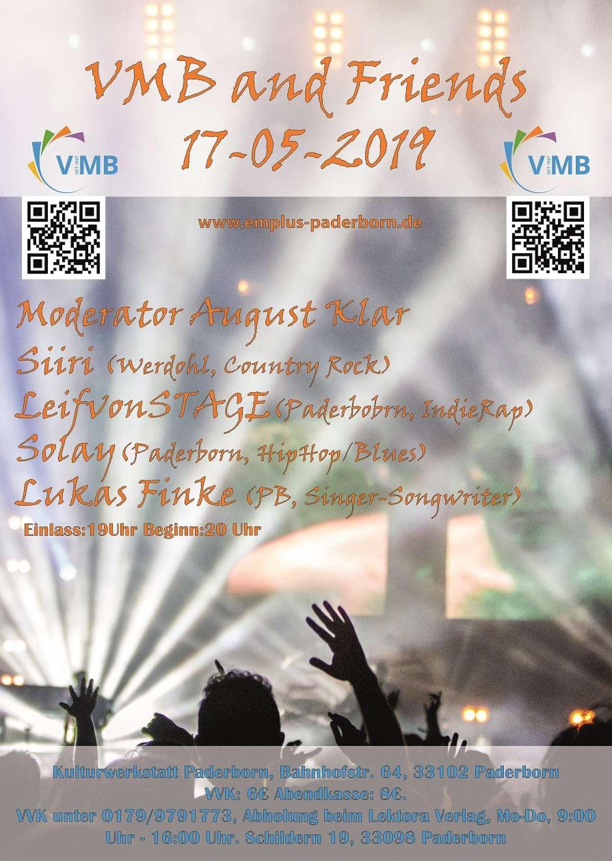 Veranstaltungen & Events am »Freitag, 17. Mai 2019« in deiner Nähe...