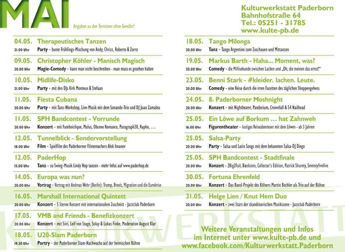 Veranstaltungen & Events am »Donnerstag, 16. Mai 2019« in deiner Nähe...