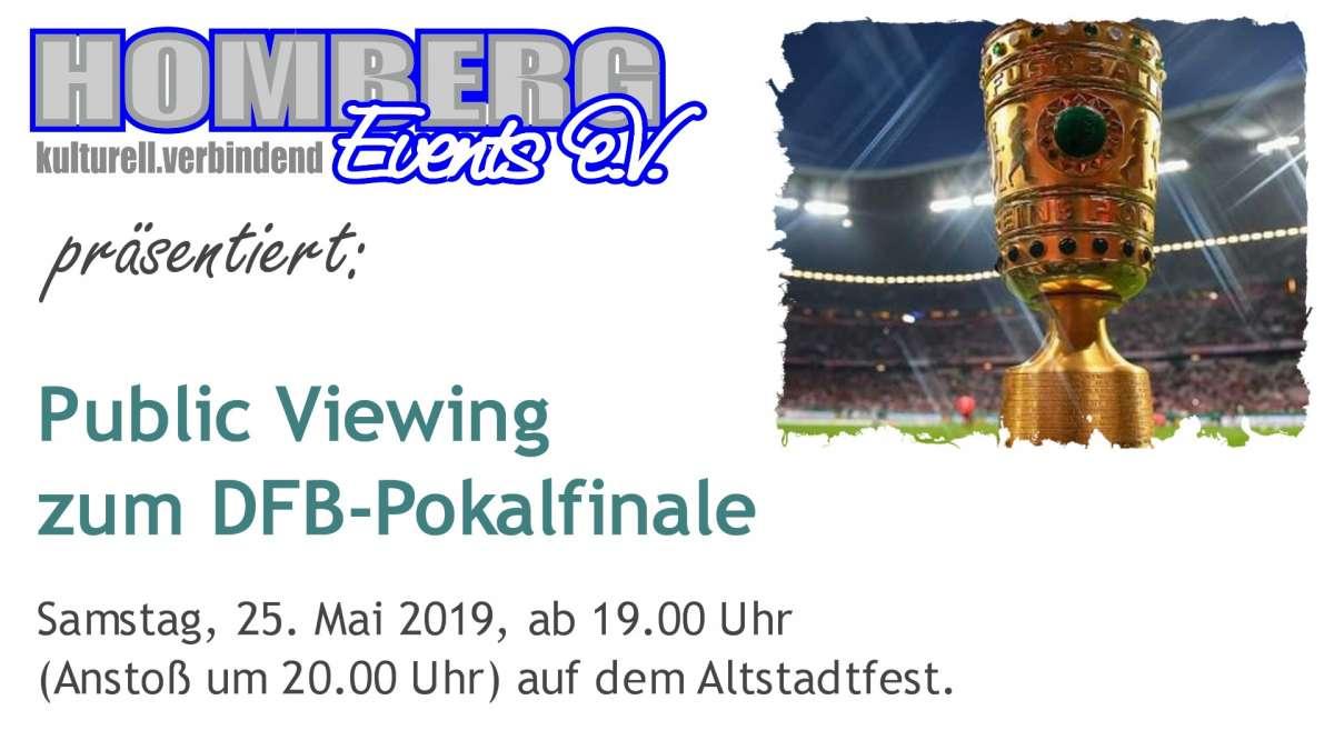 Public Viewing des DFB-Pokalfinales auf dem Altstadtfest Homberg (Efze) - Innenstadt  - Homberg (Efze)
