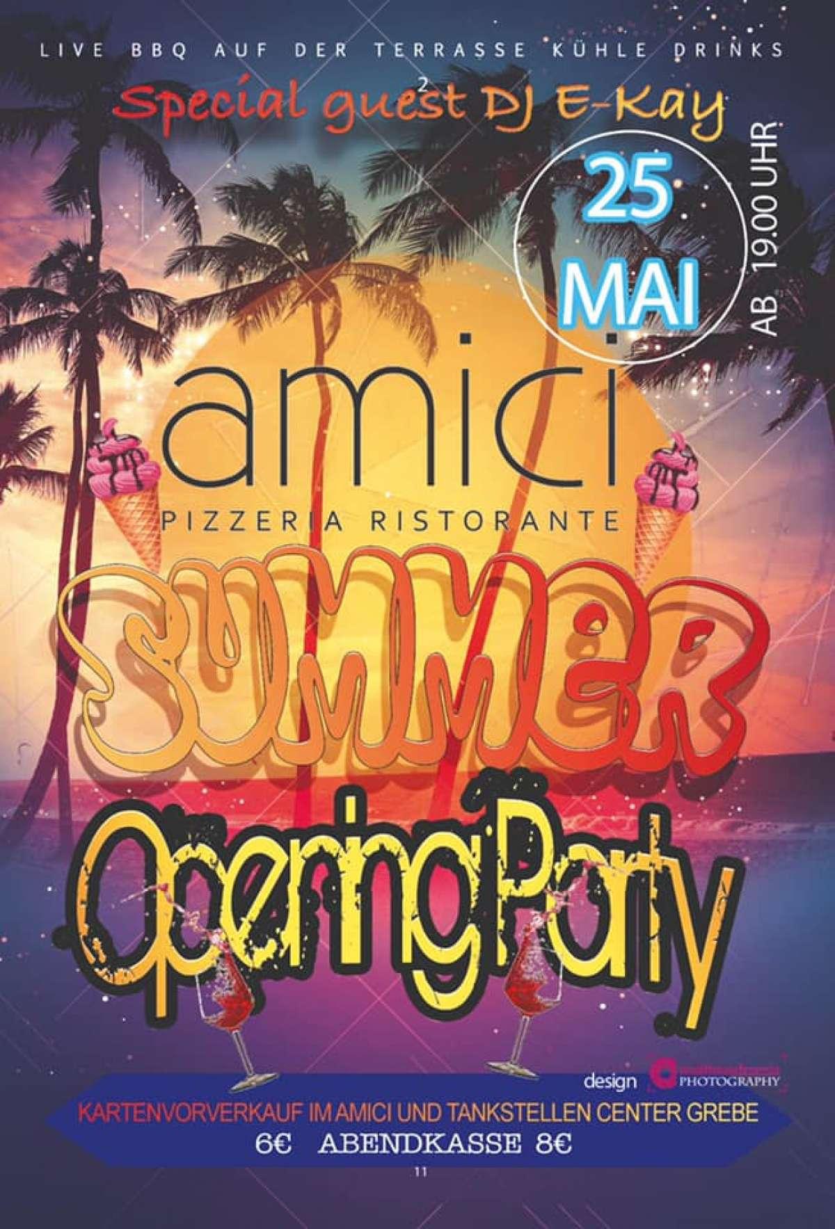 Summer Opening Party - DJ E-Kay - Amici  - Korbach