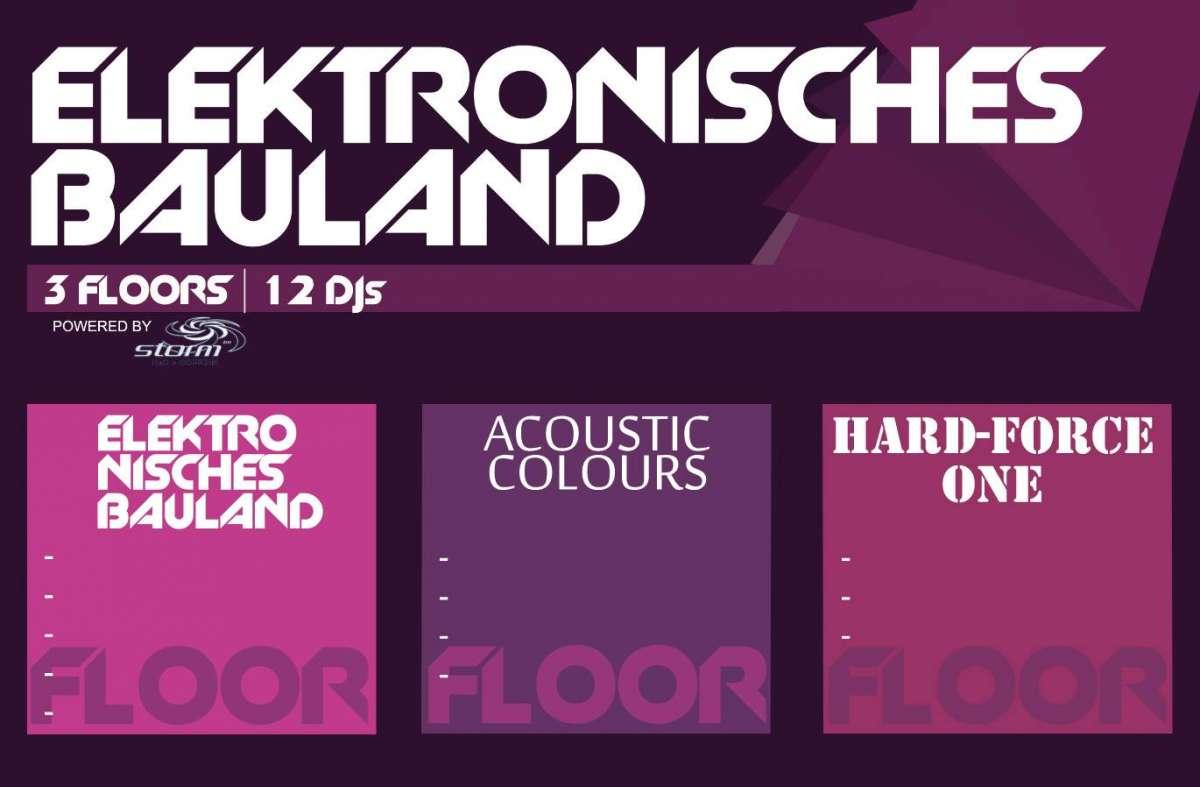 Elektronisches Bauland - B-Tek, John Versnelling - Schlosspark (Schlosshalle) - Paderborn-Schloss Neuhaus