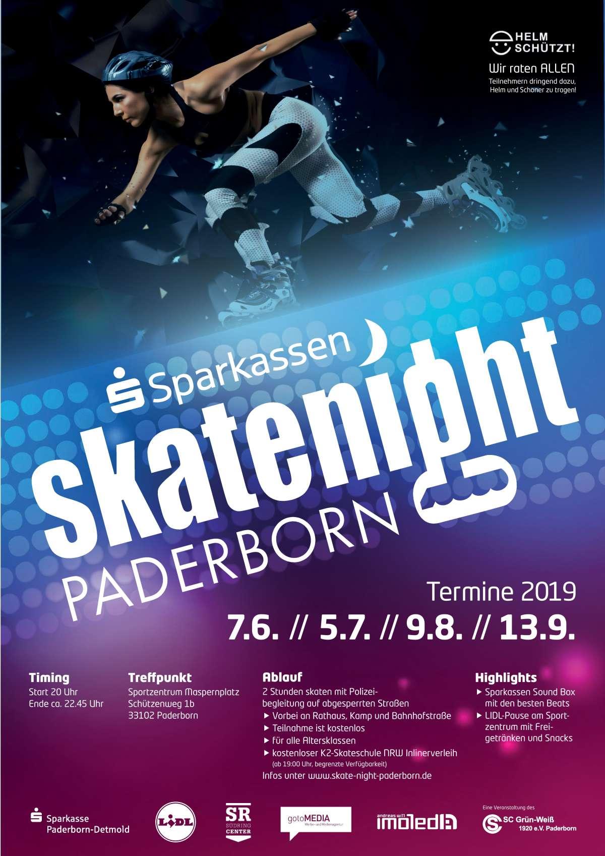 Sparkassen Skate Night Paderborn - Sportzentrum Maspernplatz - Paderborn