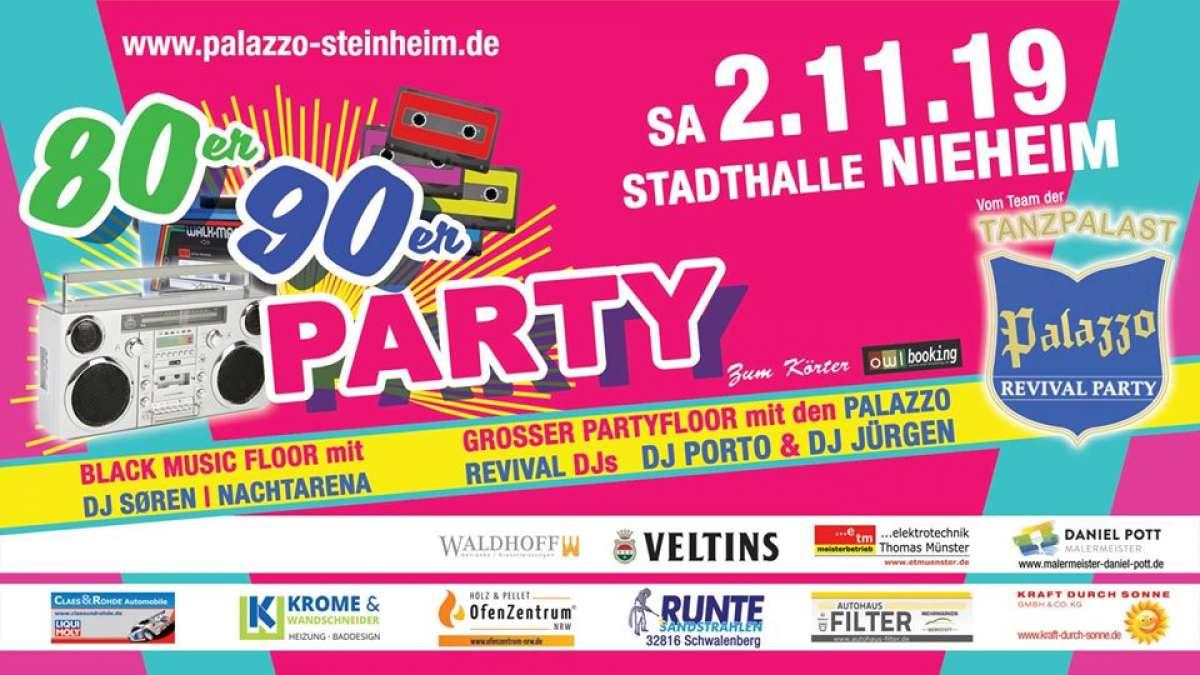 80er 90er Party - DJ Porto, DJ Jürgen, DJ Søren - Stadthalle  - Nieheim