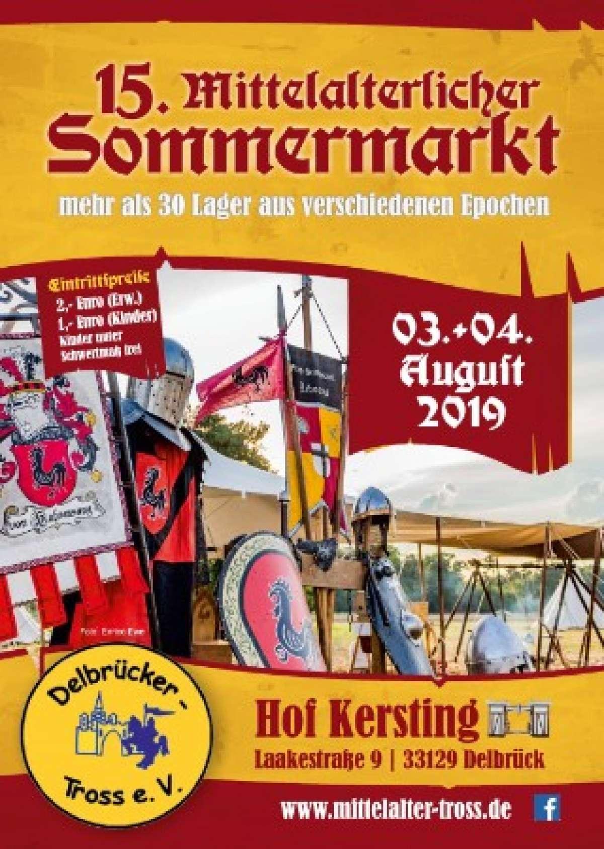 15. Mittelalterlicher  Sommermarkt - Hof Kersting - Delbrück