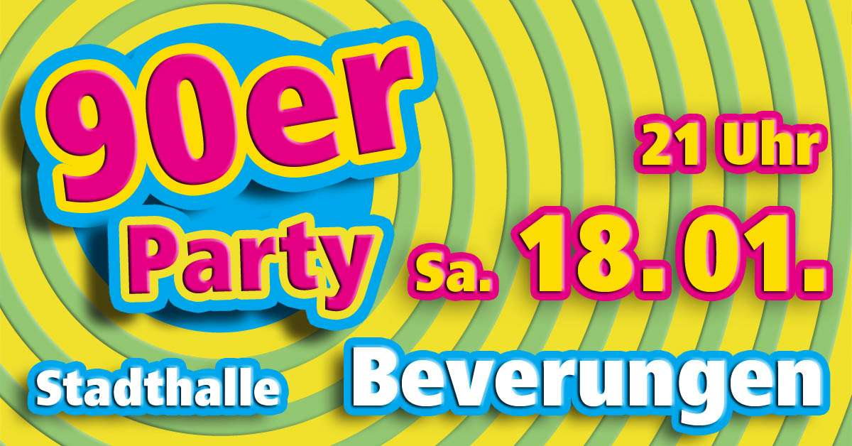 90er Party - Welcome Back To The 90s Trash - Stadthalle  - Beverungen