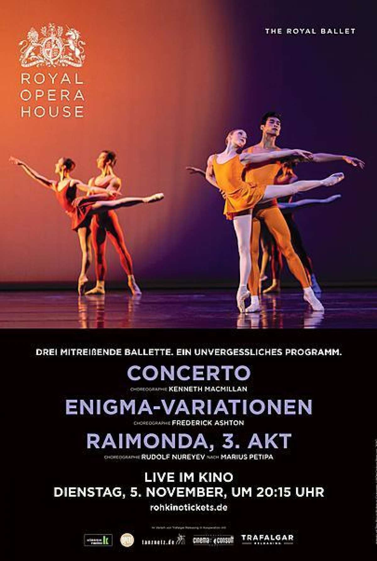 Concerto/Enigma-Variationen/Raimonda 3.Akt - Royal Opera House - Cine-Royal  - Fritzlar