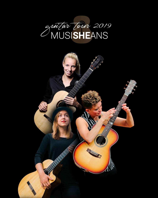 Ein Konzert der Saitenzauber Reihe in Kooperation mit der Firma Farm Sound - MusiSHEans Guitar Tour 2019 - Kulturzentrum Schlachthof KS - Kassel