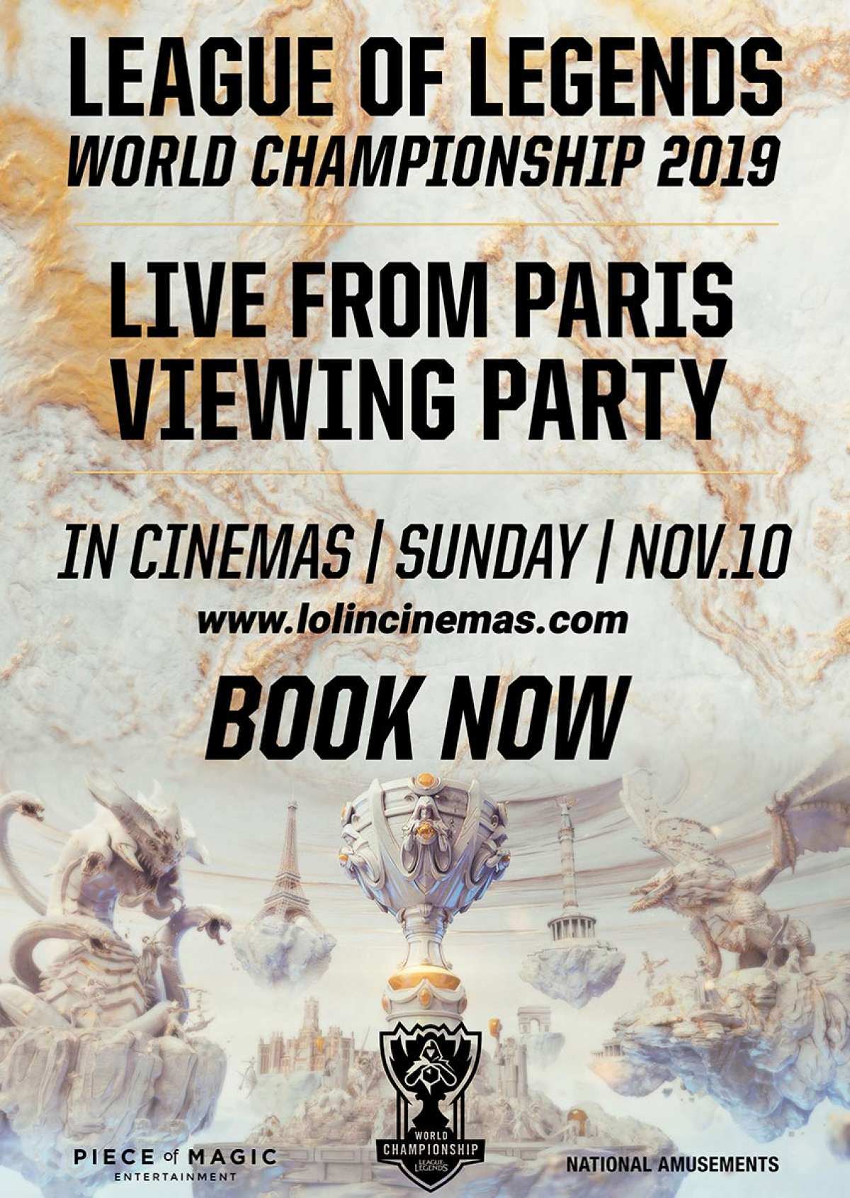 League of Legends - World Championship 2019 - LIVE - Cine-Royal  - Fritzlar