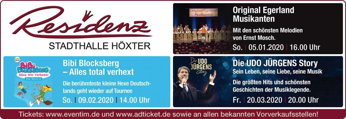 Veranstaltungen & Events in der Location »Residenz-Stadthalle Höxter«