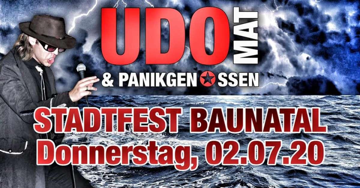 Stadtfest - UDOMAT & die Panikgenossen - Bühne Marktplatz  - Baunatal