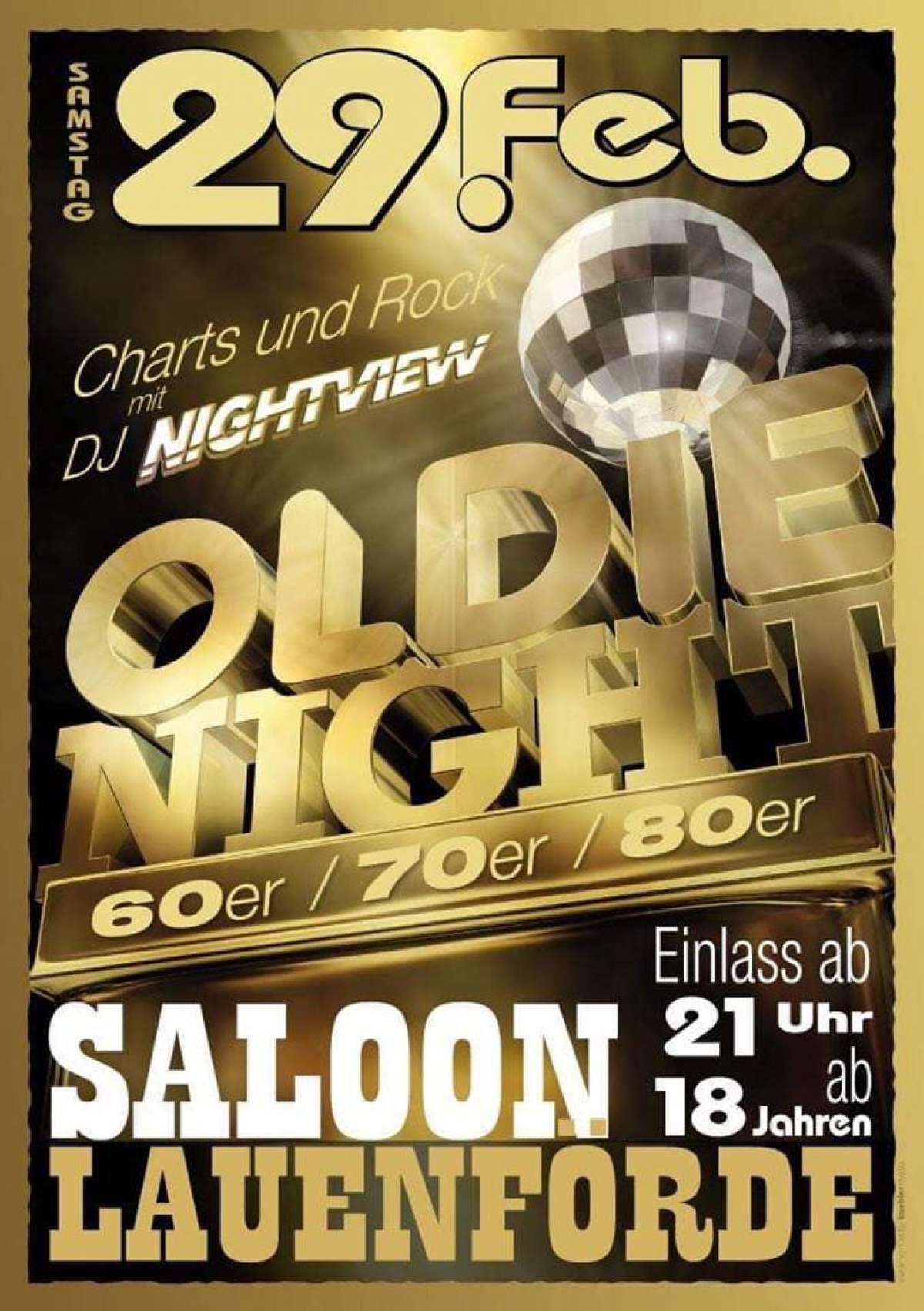 Oldie Night - Nightview - Saloon  - Lauenförde