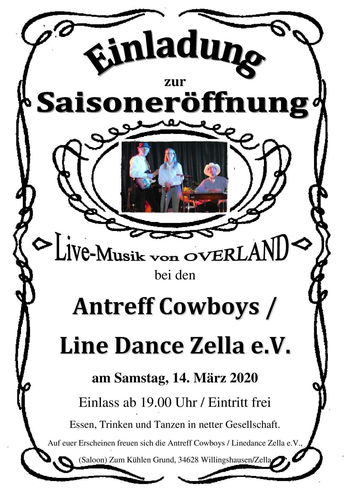 Country Musik - Line Dance - Overland - Saloon der Antreff Cowboys - Willingshausen