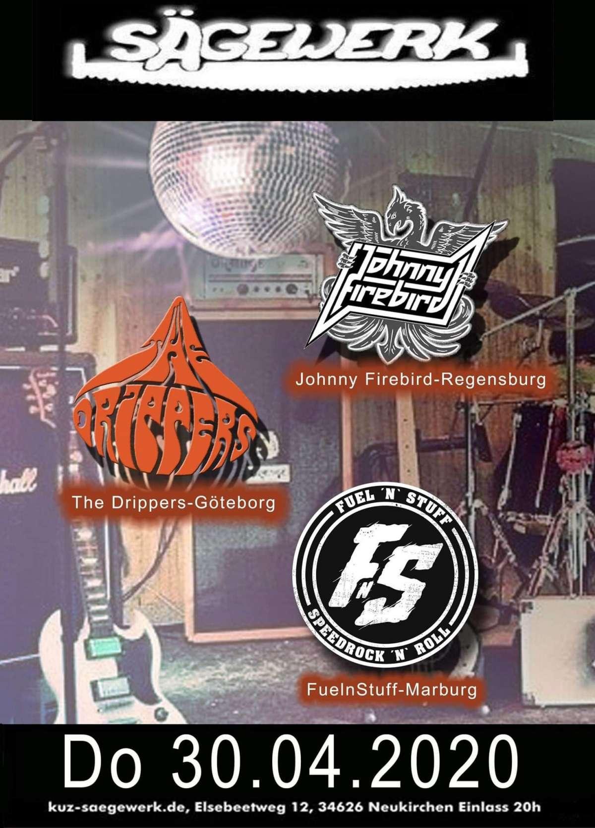 12 Jahre TJ Schwalmstadt  - The Drippers, Johnny Firebird, FuelnStuff  - Sägewerk Neukirchen - Neukirchen (Knuell)