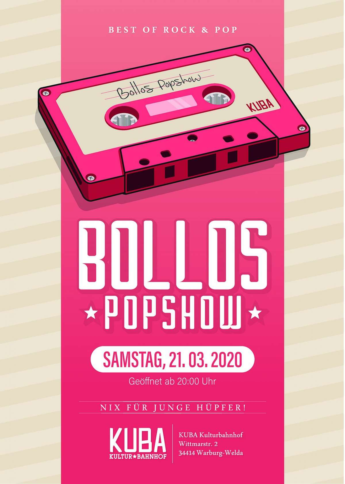 Veranstaltungen & Events Genre »Pop« in deiner Nähe...