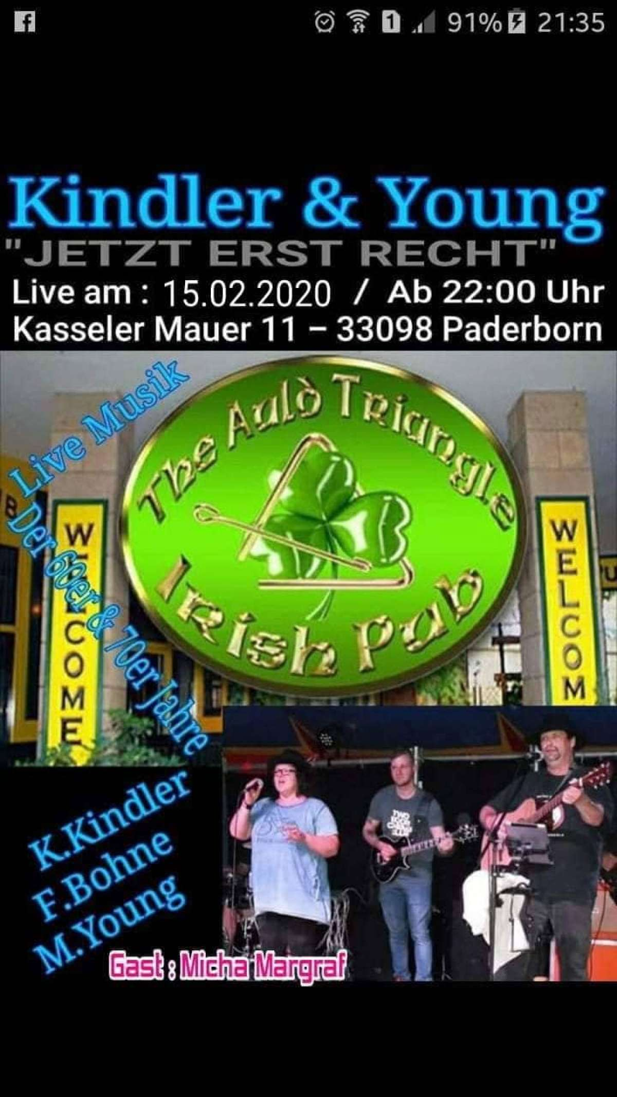 Kindler & Young - The Auld Triangle - Paderborn