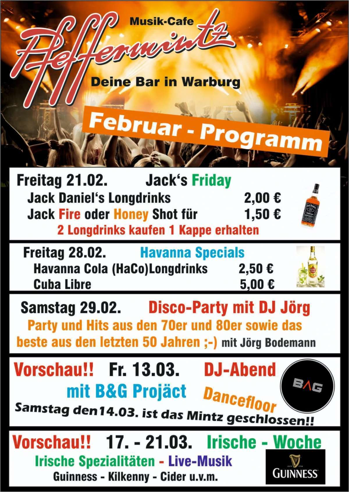 Irische Woche - Musik-Cafe Pfeffermintz - Warburg