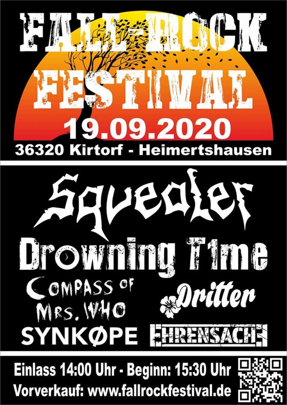 Fall-Rock-Festival - Compass of Mrs. Who, Dritter, Drowning Time, Ehrensache, Squealer, Synkope - Festivalgelände Kirtorf - Kirtorf - Heimertshausen