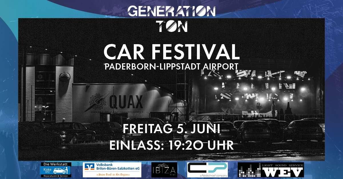 Generation Ton – Car Festival - DJ David Puentez - Autokino Paderborn am Flughafen Paderborn - Büren, Westfalen
