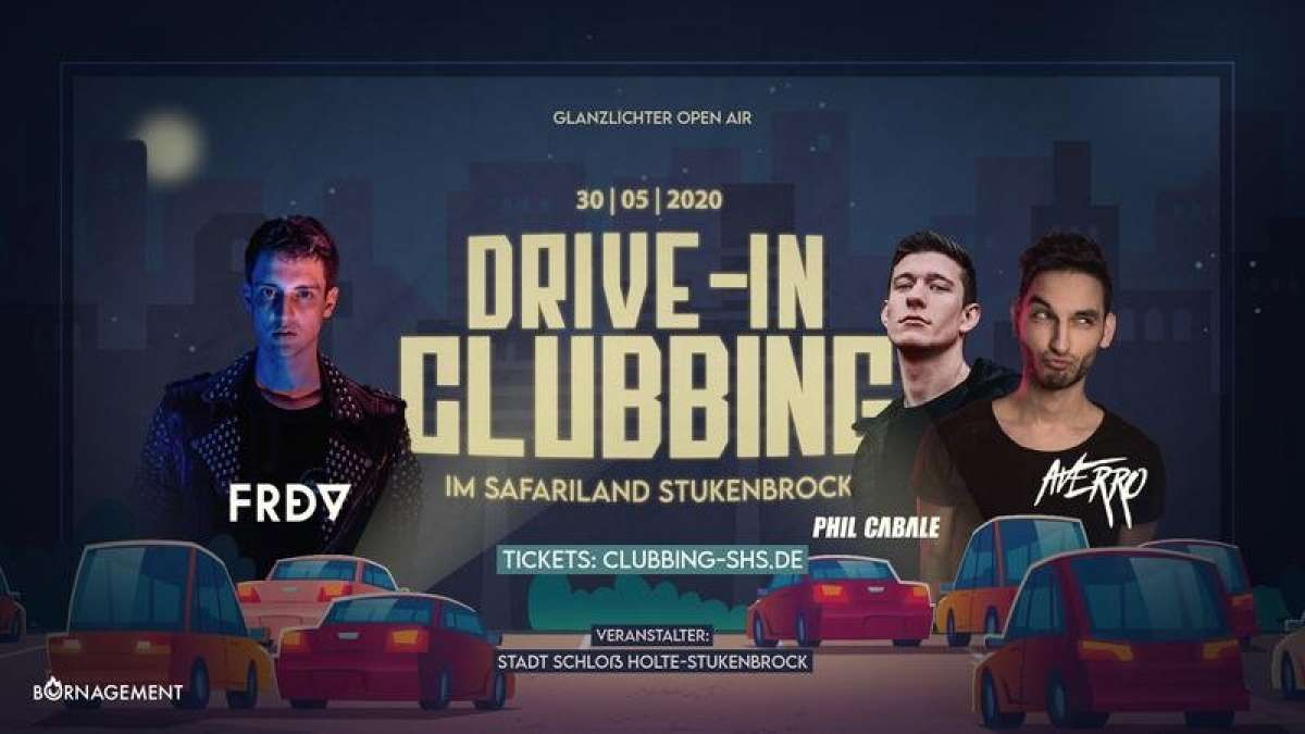 Drive-In Clubbing 1 - Phil Cabale, Averro, FRDY - Safaripark - Schloss Holte-Stukenbrock
