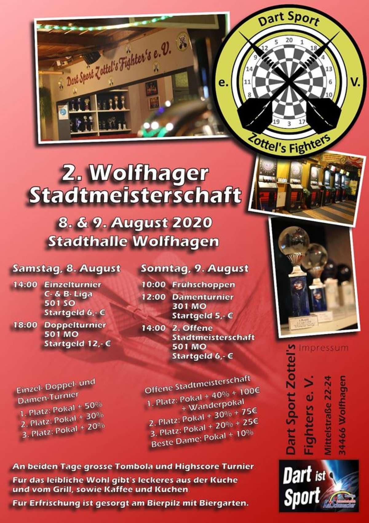 2. Wolfhager Stadtmeisterschaft im Dart - Stadthalle  - Wolfhagen