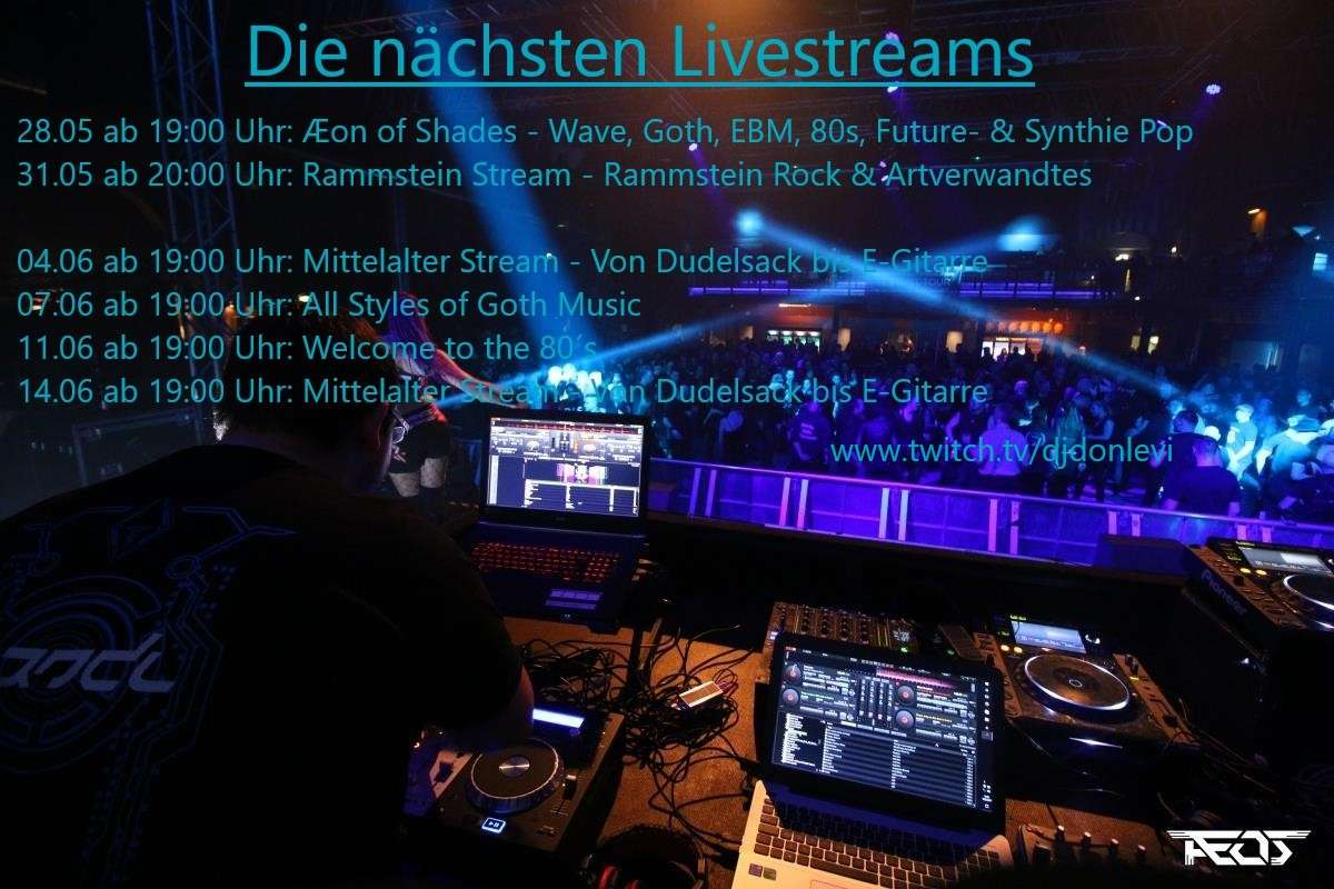 All Styles of Goth Music - Livestream - DJ DonLevi - Goldgrube  - Kassel