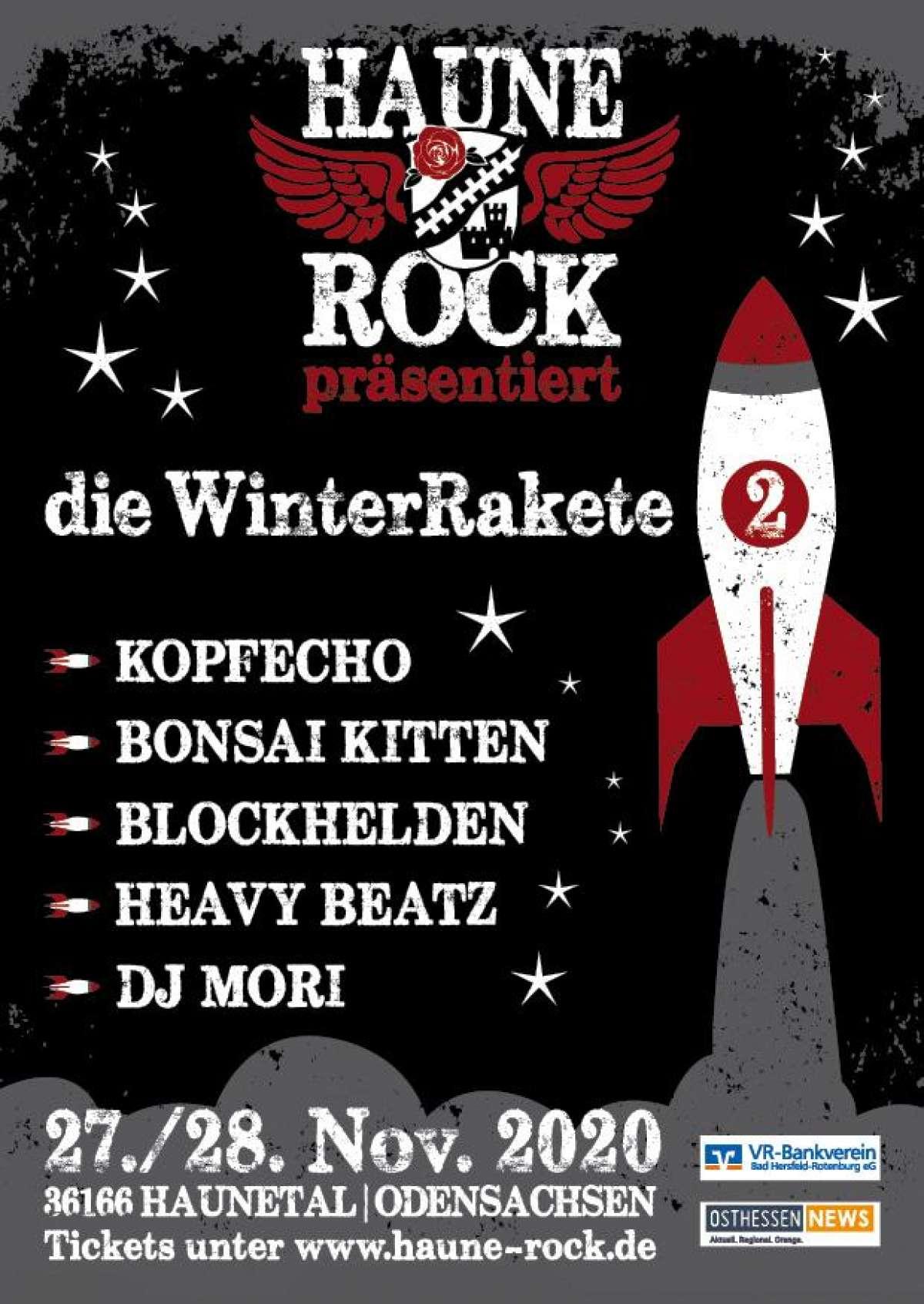 Die WinterRakete Vol.II - Blockhelden, Bonsai Kitten, KopfEcho, DJ Mori - Festplatz Odensachsen - Haunetal-Odensachsen