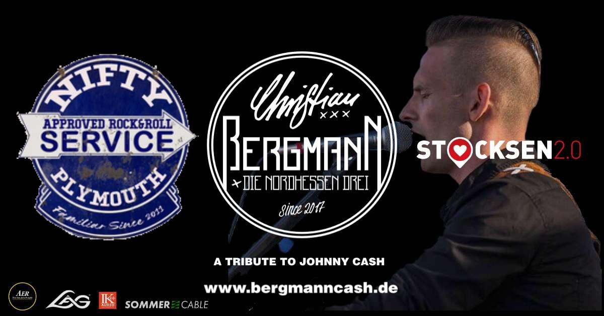 A Tribute to Johnny Cash live u. Nifty Plymouth at I Stocken 2.0 - Christian Bergmann und die NordHessen Drei - Klubhaus Stocksen - Sondershausen, Thüringen