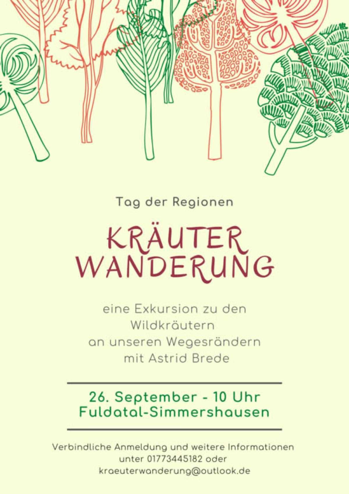 Tag der Regionen: Kräuterwanderung entlang der heimischen Wegesränder - Astrid Brede - Stadt Fuldatal-Simmershausen - Ahnatal