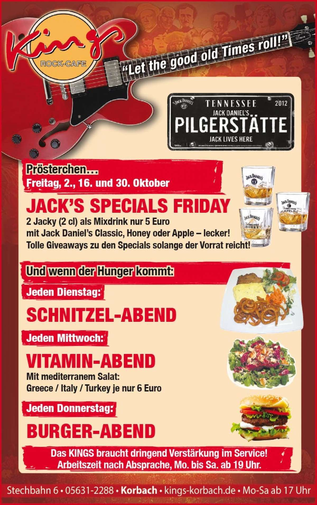 Jack´s special Friday - Kings - Korbach