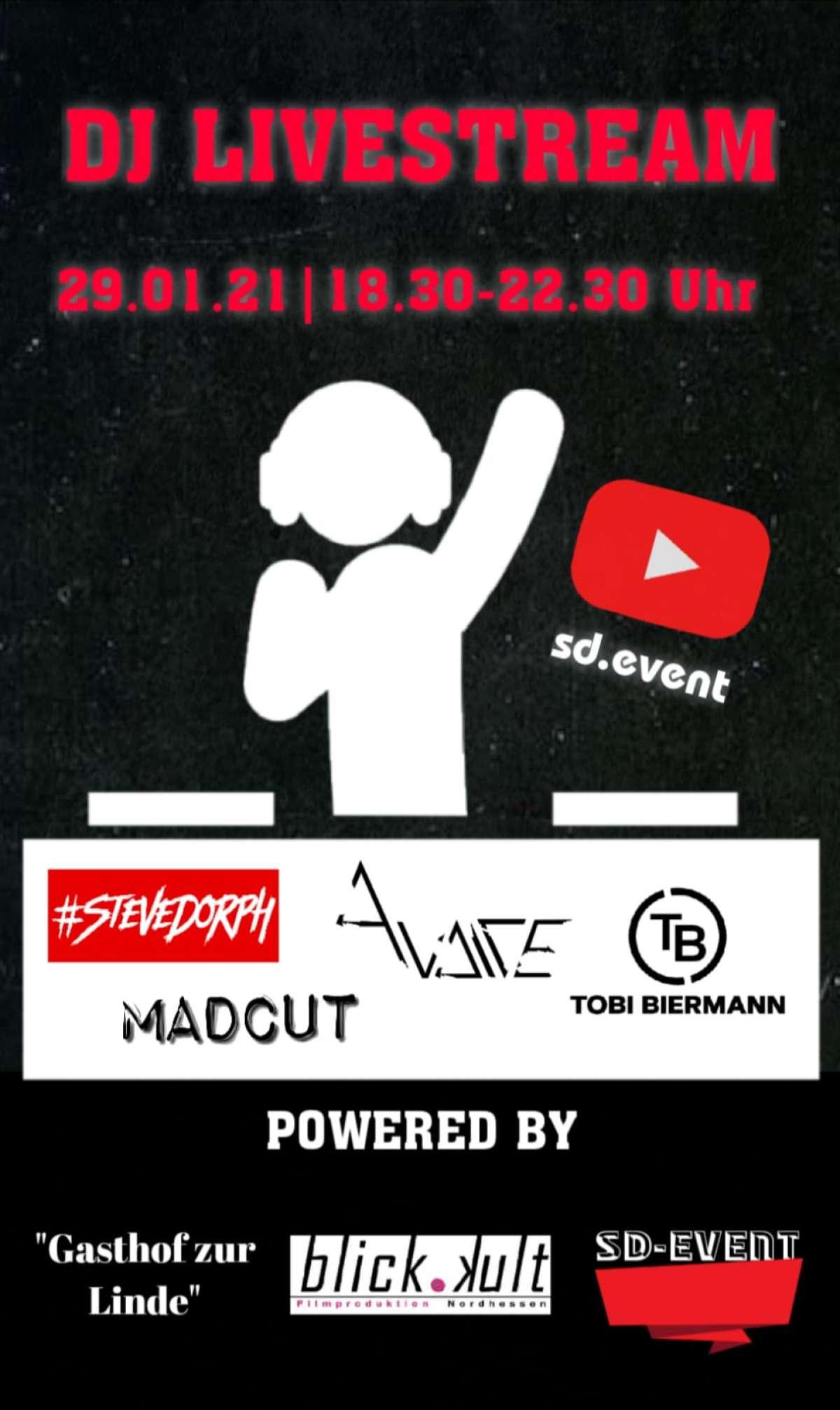DJ-Livestream - Steve Dorph, Tobi Biermann, Avaice, Madcut - Internet - Weltweit Online