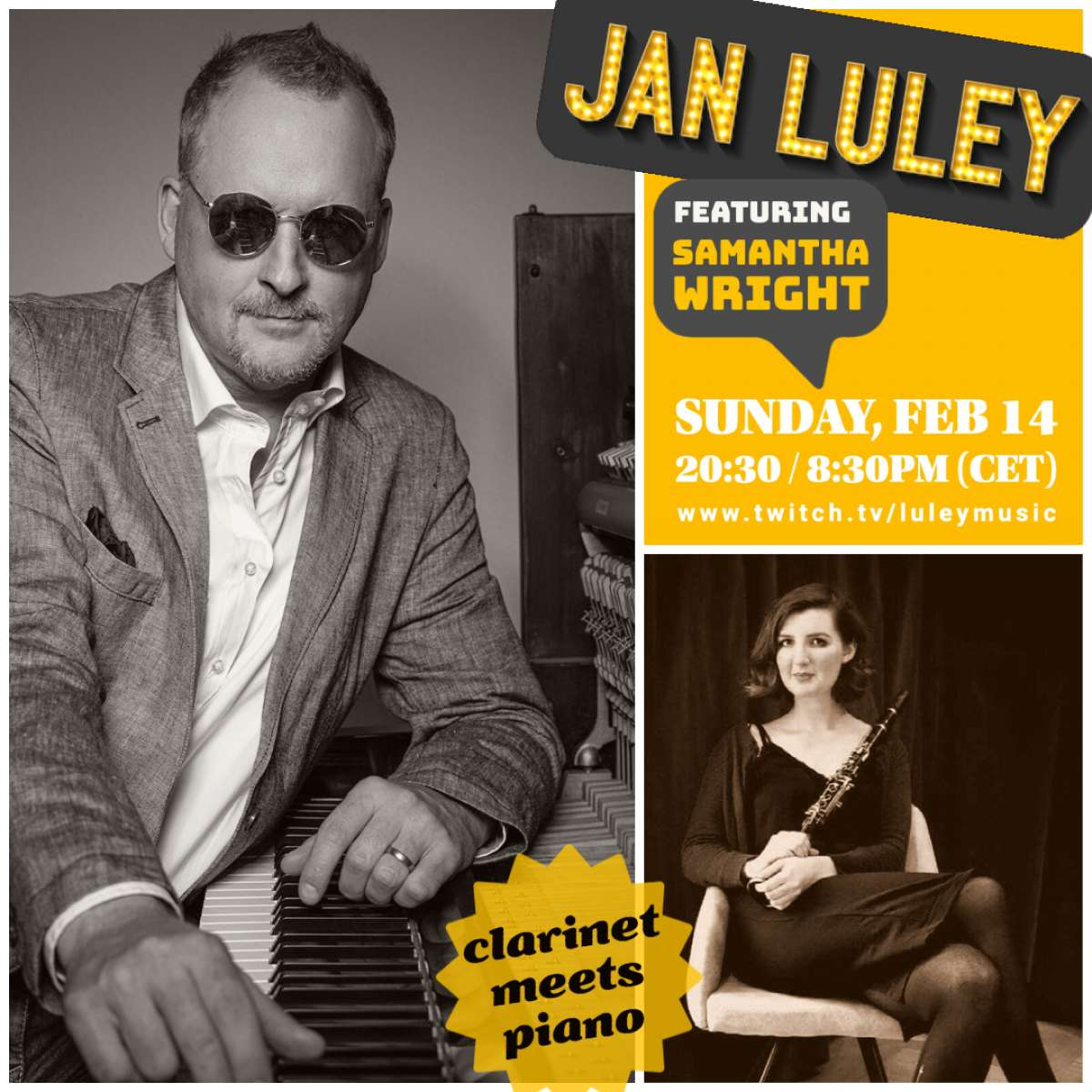 Jan Luley feat. Samantha Wright:  The Evolution of Jazz Clarinet - roots and beyond