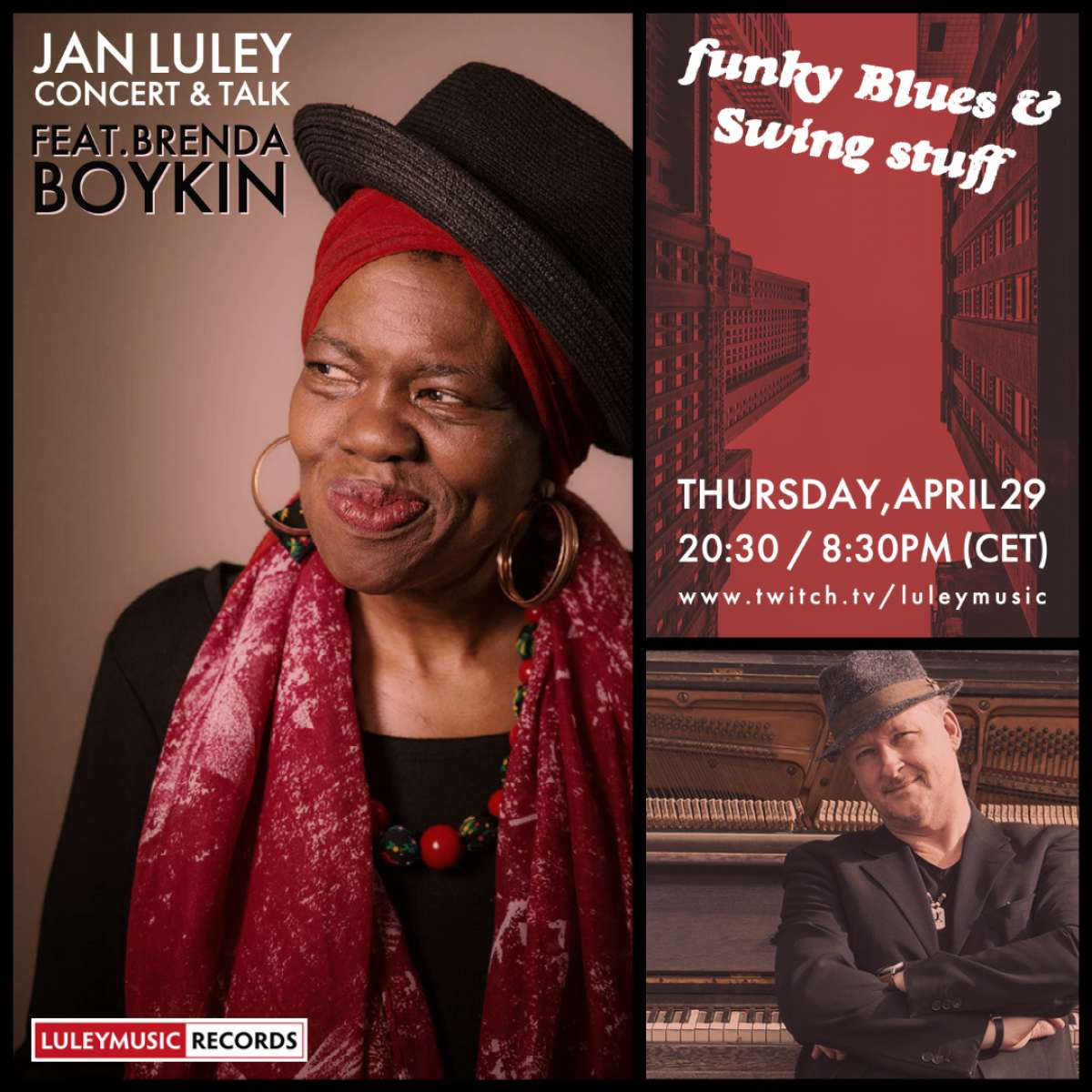 Jan Luley - piano concert & talk feat. Brenda Boykin