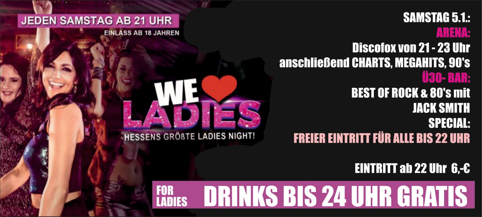 Ww-Terminator: We Love Ladies - DJ DNF, DJ Michael Steen - Nachtarena Treysa - Treysa