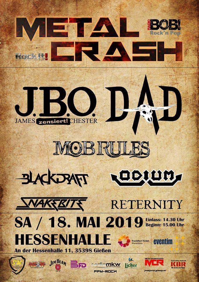 Ww-Terminator: Metal Crash Festival 2019 - J.B.O.., D-A-D, Mob Rules, Blackdraft, Odium, Snakebite, Reternity - Hessenhalle Gießen - Gießen
