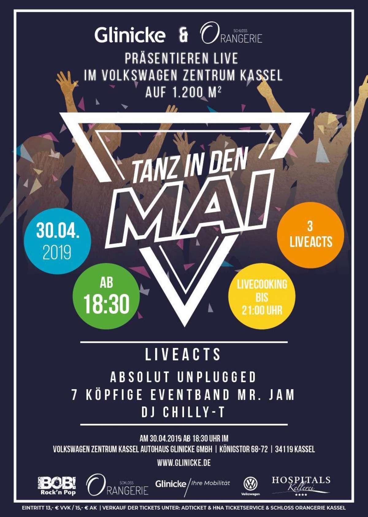 Ww-Terminator: Tanz in den Mai - Absolut Unplugged, Mr. Jam, DJ Chilly-T - Volkswagen Zentrum Kassel - Kassel