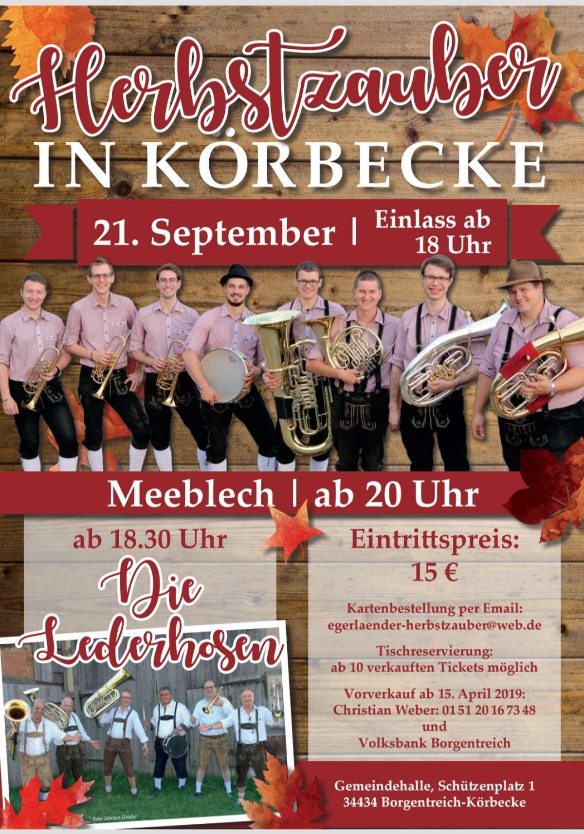 Egerländer Herbstzauber - Meeblech, Die Lederhosen - Gemeindehalle  - Körbecke