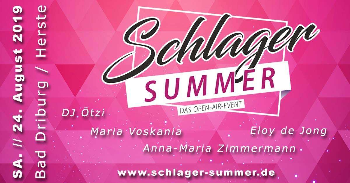 Schlager Summer - Das Open Air Festival - DJ Ötzi, Maria Voskania, Eloy de Jong, Anna Maria Zimmermann - Ortsteil Herste - Bad Driburg