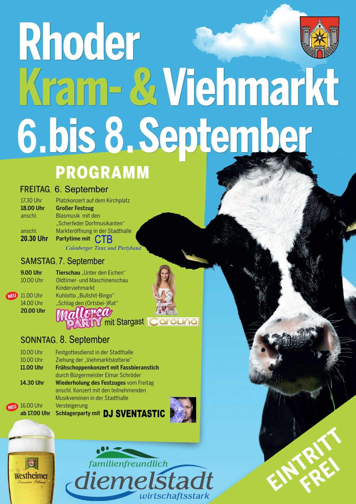 Kram- Viehmarkt Rhoden - Scherfeder Dorfmusikanten, CTB - Calenberger Tanz und Partyband - Schützenplatz Rhoden - Diemelstadt-Rhoden