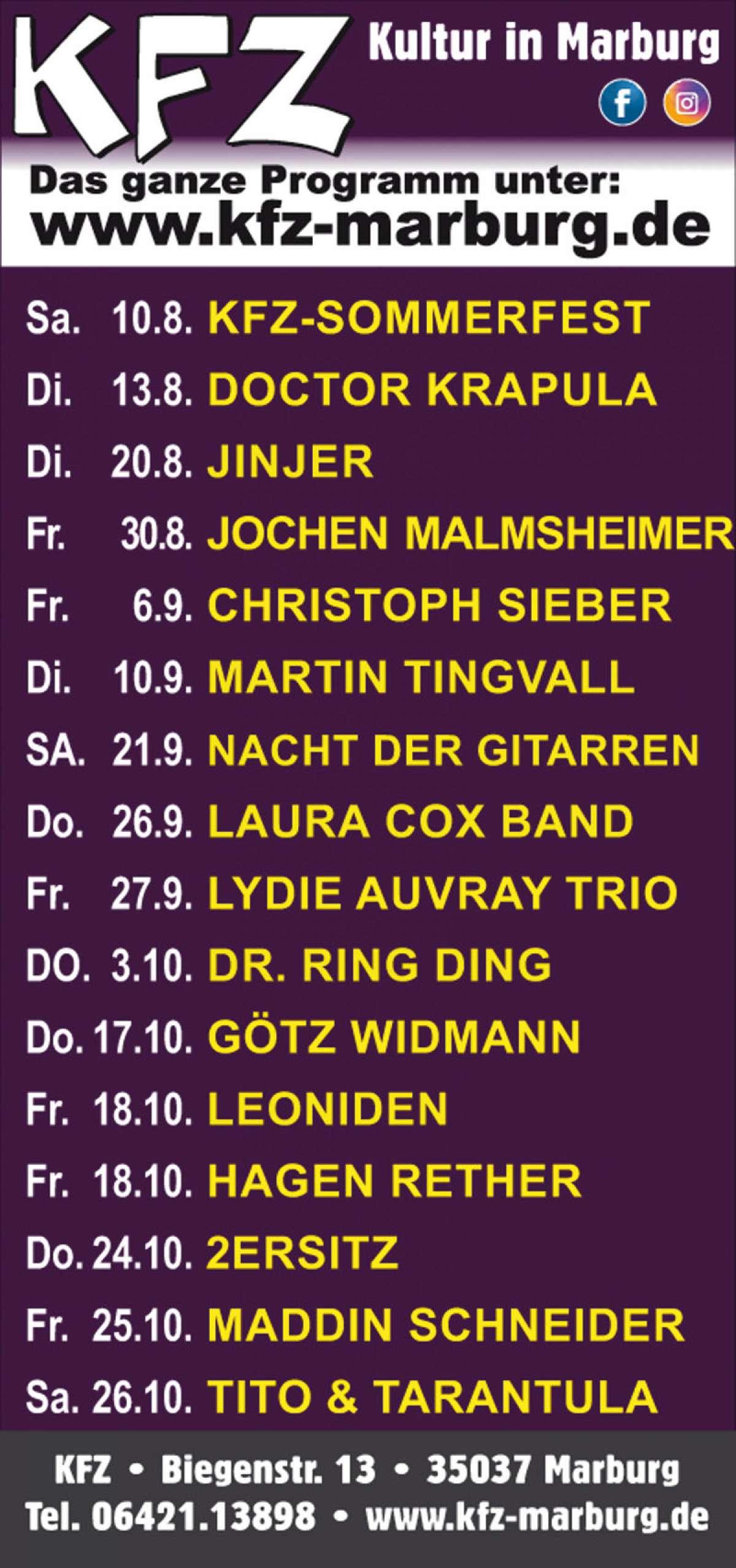 Veranstaltungen & Events Kategorie »Konzert« in deiner Nähe...
