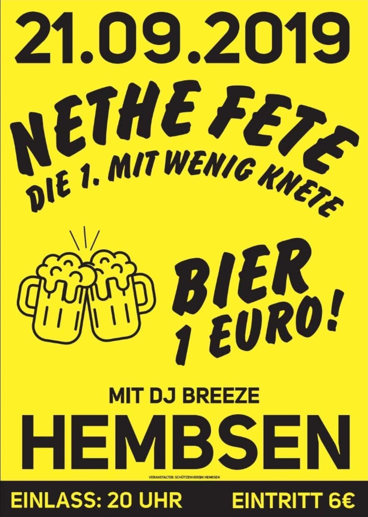 Ww-Terminator: Nethefete - die erste mit wenig Knete!  - DJ Breeze - Dorfgemeinschaftshaus Hembsen - Brakel-Hembsen